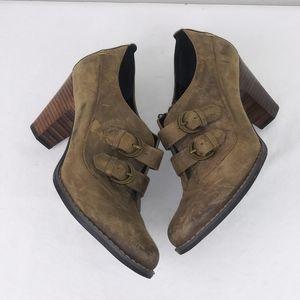 Indigo By Clarks Buena Vista Brown Buckle Heels